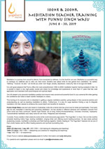 100-Hour & 200-Hour Meditation Teacher Training With Punnu Singh Wasu