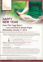 Happy New Year from The Yoga Barn !