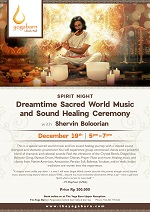 Spirit Night: Dreamtime Sacred World Music and Sound Healing Ceremony with Shervin Boloorian