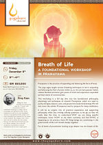 Breath of Life - A Foundational Workshop in Pranayama with Greg Kaps