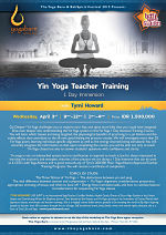 Yin Yoga Teacher Training 1 Day Immersion with Tymi Howard