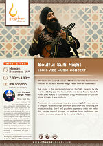 Soulful Sufi Night High-Vibe Music Concert with Punnu Singh Wasu