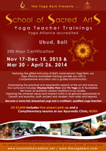 School of Sacred Arts Teacher Training @ The Yoga Barn - Click here to enlarge