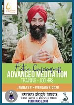 Active Consciousness Meditation, 100-Hour Advanced Meditation Training with Punnu Singh Wasu