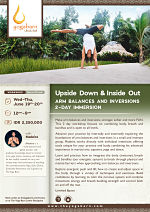 Upside Down & Inside Out: Arm Balances and Inversions 2-Day Immersion with Madeira