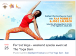 The Yoga Barn and Balispirit Festival Masters Series  Present a Special Event with ANA FORREST and JOSE CALARCO