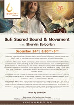 Sufi Sacred Sound and Movement with Shervin Boloorian