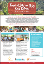 Tropical Bikram Yoga Bali Retreat with Katie Standring
