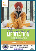 Active Consciousness Meditation 100 & 200-Hour Teacher Training with Punnu Singh Wasu