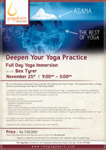 Deepen Your Yoga Practice Full Day Immersion With Bex Tyrer