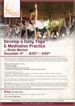 Develop a Daily Yoga & Meditation Practice