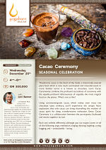 Cacao Ceremony Seasonal Celebration with Levi Banner