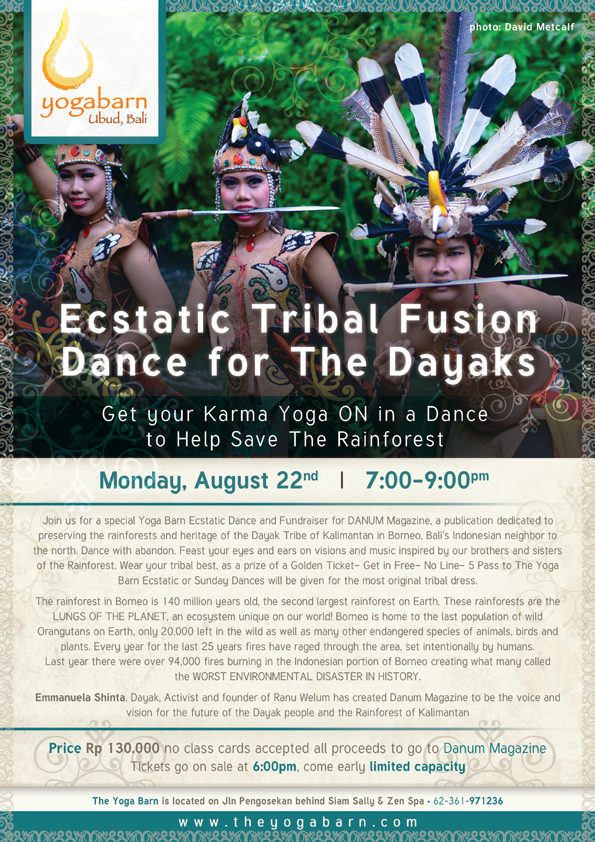 estatic tribal fusion dance for the dayaks