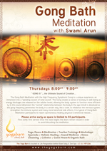 Gong Bath Meditation with Swami Arun