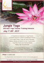 Jungle Yoga 200 Hour Yoga Teacher Training Intensive: Tradition, Transformation and Creativity