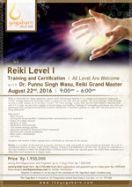 Reiki Level 1 Training and Certification with Punnu Singh Wasu