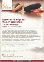 Restorative Yoga for Women Workshop