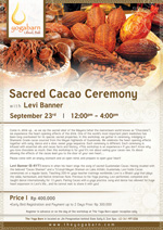 Sacred Cacao Ceremony with Levi Banner