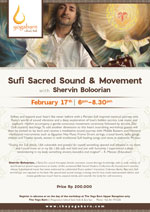 Sufi Sacred Sound & Movement with Shervin Boloorian