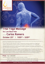 Thai Yoga Massage for Low Back Pain with Carlos Romero