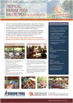Tropical Bikram Yoga Bali Retreat