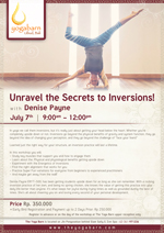 Unravel The Secrets to Inversions with Denise Payne