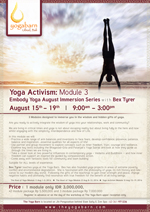 Embody Yoga August Immersion Series: Yoga Activism – Module 3