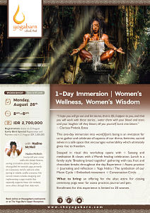 1 Day Immersion Women's Wellness, Women's Wisdom with Nadine McNeil