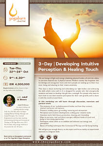 3-Day Developing Intuitive Perception & Healing Touch with Adolf M Brown