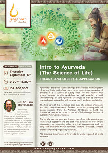 Intro to Ayurveda (The Sciene of Life) with DC Leiro (Shivananda)