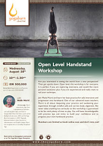 Open Level Handstand Workshop with Made Murni