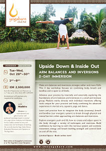 Upside Down & Inside Out Arm Balances and Inversions 2-Day Immersion with Madeira