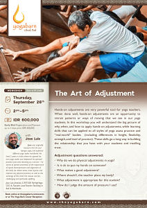 The Art of Adjustments with Jose Luis
