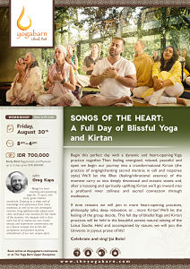 Songs of the Heart: A Full Day of Blissful Yoga and Kirtan with Greg Kaps