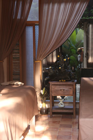 A treatment room at Kush Ayurveda