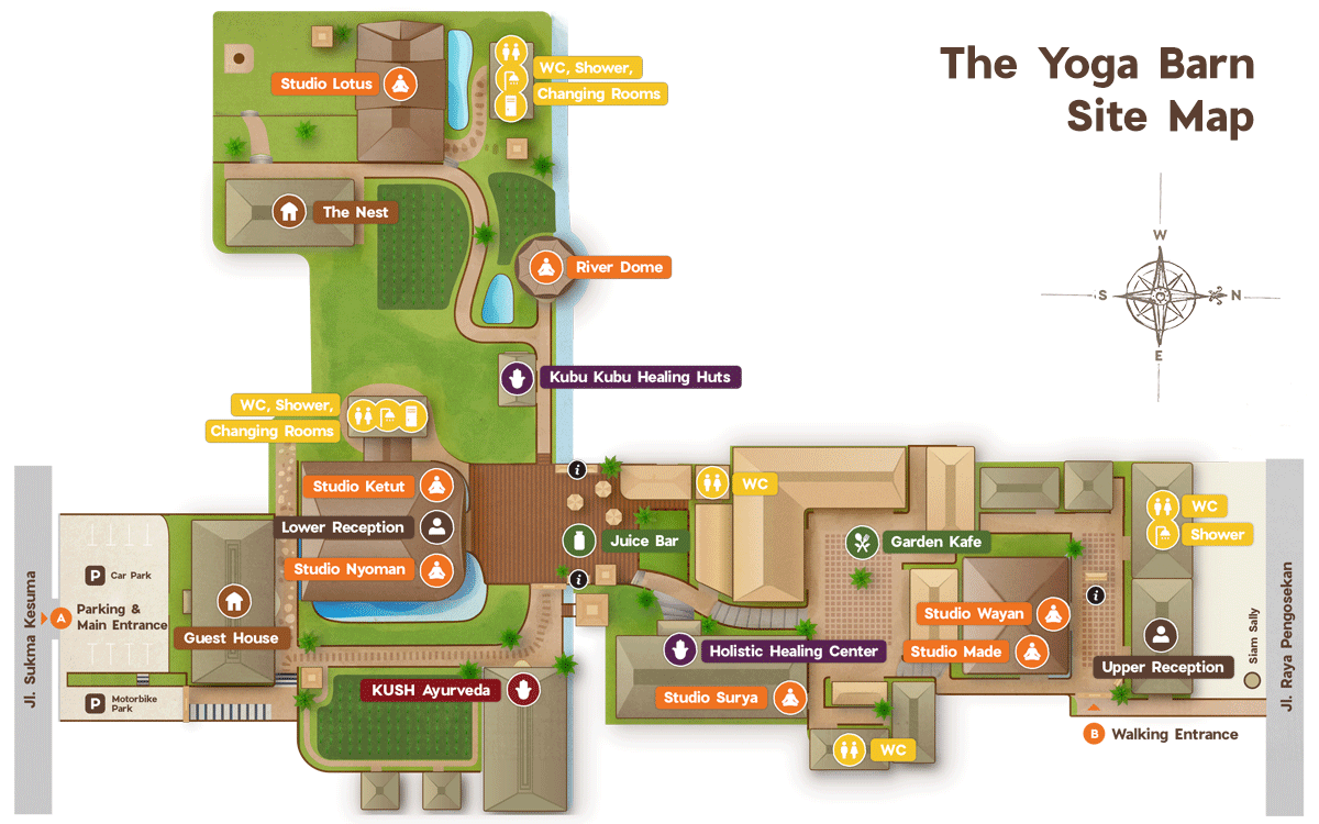 The Yoga Barn Site Map